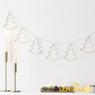 【Ginger Ray】 ゴールドワイヤーデコレーション クリスマスツリーのガーランド クリスマス (SPRK-102)
