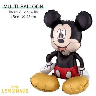【自立型 フィルム風船】お座りミッキーマウス ガス無し 高さ45cm ディズニー ミッキー  (38185)