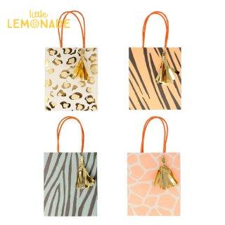 【Meri Meri】 サファリアニマルプリント ペーパーバッグ 紙袋 1枚 Safari Animal Print Party Bags(202372)