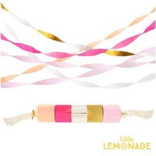 【Meri Meri】ピンク クレープストリーマー  Pink Crepe Paper Streamers バッグドロップ(202956)