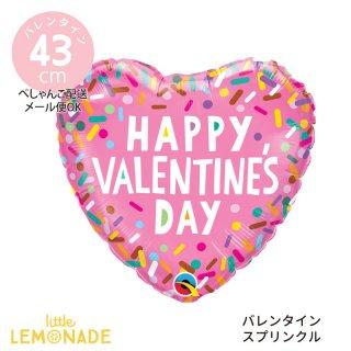 バレンタイン 飾り【ぺしゃんこでお届け】Happy Valentine's Day スプリンクル ピンク (97153)
