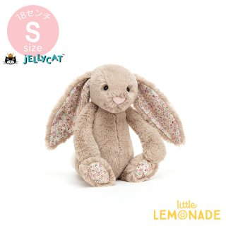 <img class='new_mark_img1' src='https://img.shop-pro.jp/img/new/icons1.gif' style='border:none;display:inline;margin:0px;padding:0px;width:auto;' />【Jellycat】 Blossom Beige Bunny Sサイズ 耳花柄 ベージュ うさぎ バニー ぬいぐるみ ジェリーキャット BLN6BB