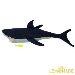 【Meri Meri】  シャークのぬいぐるみ サメ ソフトトイ ファブリックトイ 子供のおもちゃ ギフト 出産祝い 誕生日祝い クッション 子供部屋 インテリア(186685)