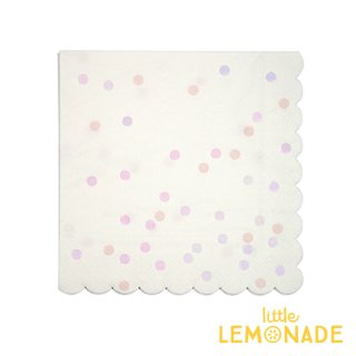 【Meri Meri】ピンク コンフェッティ柄 ペーパーナプキン 紙ナプキン 16枚入り (45-3018)