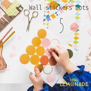 【Party Deco】ウォールステッカー ドットミックス シールセット ステッカー インテリア 子供部屋 Wall stickers Dots mix(NNS2)