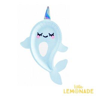 【Party Deco】イッカクのペーパープレート6枚セット 海 マーメイド バースデー 誕生日(TPP55)