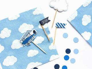 【Party Deco】クラウド柄ペーパーナプキン20枚  飛行機 クラウド 男の子 乗り物 誕生日(SP33-14)