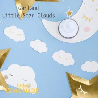 【Party Deco】クラウド ガーランド 雲  誕生日 バースデイ 子供部屋(GL16-008)