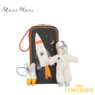 <img class='new_mark_img1' src='https://img.shop-pro.jp/img/new/icons1.gif' style='border:none;display:inline;margin:0px;padding:0px;width:auto;' />宇宙飛行士とロケットイラストBOX付き Astronaut Mini Suitcase Doll 【Meri Meri】ぬいぐるみ 人形 アストロボーイ (188521)
