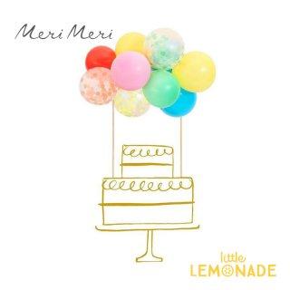 バルーンガーランドのケーキトッパー Rainbow Balloon Cake Topper Kit 【Meri Meri】風船 ケーキ デコレーション レインボー (203483)