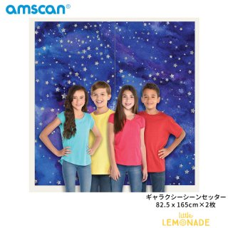 シーンセッター ギャラクシー 宇宙【amscan】誕生日 飾り 大きなバナー ウォールデコレーション(PG670923)