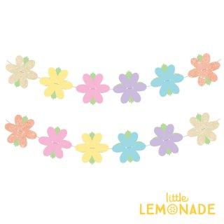 【illume partyware】フラワー ガーランド カラフル リバーシブル お花 Garland Glitter Flower