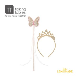 【Talking Tables】 フェアリー ワンド&ティアラセット(TSFAIRY-DRESSUP) Truly Fairy Wand and Tiara Set ステッキ トーキングテーブルス