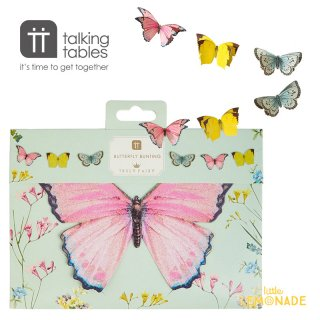 【Talking Tables】 Truly Fairy バタフライ ガーランド 3M(TSFAIRY-BUNTING) 蝶   Butterfly Bunting
