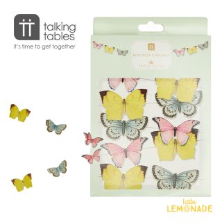 【Talking Tables】 Truly Fairy バタフライ ガーランド【ミニ】 5M(TSFAIRY-MINBUNT) 蝶   Mini Paper Butterfly Bunting