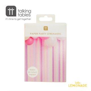 【Talking Tables】 ローズパーティー ストリーマー7個セット  (ROSE-STREAMER)   Rose Party Streamers クレープストリーマー