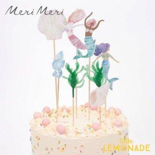 【Meri Meri メリメリ】 手書き風デザイン マーメイドケーキトッパー Mermaid Cake Toppers 人魚 マーメイド トッパー (215488)