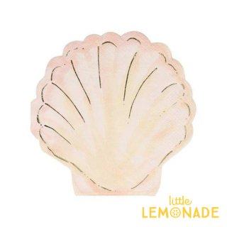【Meri Meri】貝の形のペーパーナプキン Watercolour Clam Napkins 紙ナプキン 16枚入り (210772)