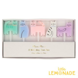 【Meri Meri】 Cat Candles キャット キャンドル 誕生日 飾り ろうそく  (215803)