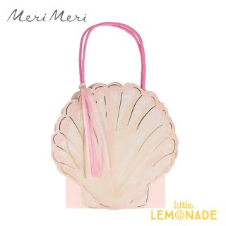 【Meri Meri】 マーメイドパーティー ペーパーバッグ 1枚 貝殻 シェル 紙袋(215497)