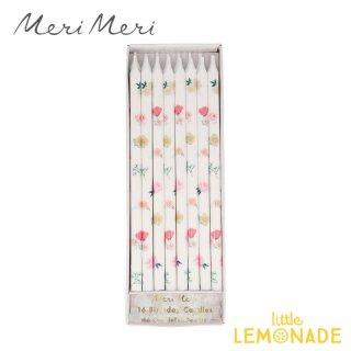 【Meri Meri】 フローラルデザインキャンドル 16本セットTapered Floral Candles (215974)