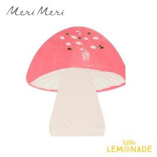 【Meri Meri】  きのこペーパーナプキン 16枚入り パーティーナプキン パーティーナプキン 紙ナプキンFairy Toadstool Napkins(215227)