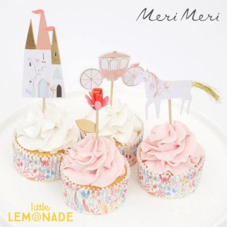 【Meri Meri】 プリンセス カップケーキキット【お城のピックとベーキングカップのセット】 Princess Cupcake Kit (215218)