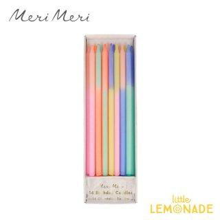 【Meri Meri】 マルチカラーブロックキャンドル 16本セット Multi Colour Block Candles (215821)