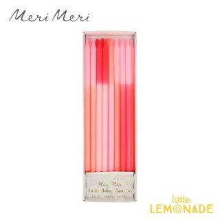【Meri Meri】 ピンクカラーブロックキャンドル 16本セット Pink Colour Block Candles (215830)