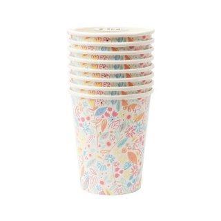 【Meri Meri】  Magical Princess Cup 花柄 ペーパーカップ 8個入り プリンセス 蝶 紙コップ (186541)