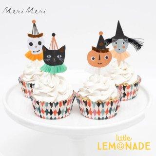 <img class='new_mark_img1' src='https://img.shop-pro.jp/img/new/icons1.gif' style='border:none;display:inline;margin:0px;padding:0px;width:auto;' />【Meri Meri】 ハロウィン ピック&ケース カップケーキキット Vintage Halloween Cupcake Kit ハロウィーン 製菓 (217207)