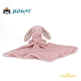 <img class='new_mark_img1' src='https://img.shop-pro.jp/img/new/icons1.gif' style='border:none;display:inline;margin:0px;padding:0px;width:auto;' />【Jellycat ジェリーキャット】  Blossom Tulip Bunny Soother  花柄×チューリップ ピンク バシュフルバニー ブランケット  (BBL4BTP) 【正規品】