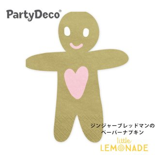 <img class='new_mark_img1' src='https://img.shop-pro.jp/img/new/icons1.gif' style='border:none;display:inline;margin:0px;padding:0px;width:auto;' />【Party Deco】 ジンジャーブレッドマンのペーパーナプキン ジンジャーブレッド クリスマス Christmas 紙ナプキン(SPK14)