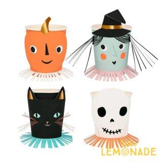 <img class='new_mark_img1' src='https://img.shop-pro.jp/img/new/icons1.gif' style='border:none;display:inline;margin:0px;padding:0px;width:auto;' />【Meri Meri】 ハロウィン キャラクター ペーパーカップ Vintage Halloween Paper Cup かぼちゃ 魔女 がいこつ ネコ ハロウィーン 紙コップ  (216829)