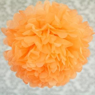 ビッグフラワーポム 35cm オレンジ 【メール便発送可】