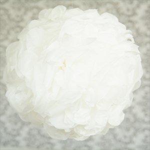 ビッグフラワーポム 35cm ホワイト 【メール便発送可】