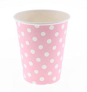 【SAMBELLINA サンベリーナ】 ペーパーカップ 12個入り ピンク ドット柄
