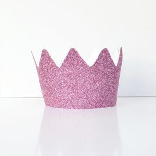 【my little day マイリトルデイ】 子供用グリッタークラウン ピンク フランス製 8個入り ◆SALE