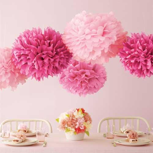 【Martha Stewart マーサ・スチュワート】ビックフラワー ポンポン キット ピンク 5個入り (44-20021)