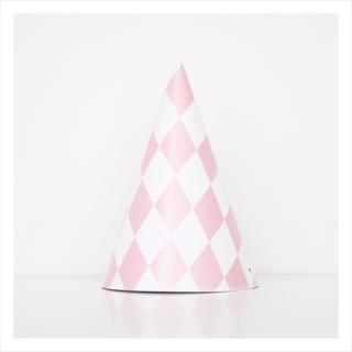 【my little day マイリトルデイ】 子供用パーティーハット 8個入り ピンク ダイアモンド