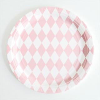 【my little day マイリトルデイ】 ペーパープレート  8枚入り ピンク ダイアモンド