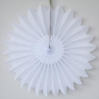 ペーパー ファンバースト 46cm ホワイト 【4個までメール便発送可】