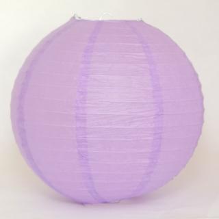 ペーパーランタン ボール ライトパープル 30cm 【ウェディング・パーティー用デコレーション】