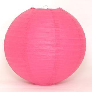 ペーパーランタン ボール ホットピンク 30cm 【ウェディング・パーティー用デコレーション】