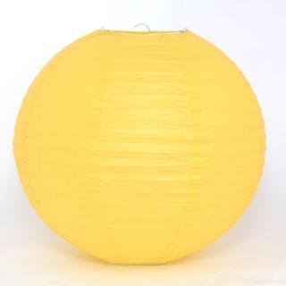ペーパーランタン ボール イエロー 30cm 【ウェディング・パーティー用デコレーション】