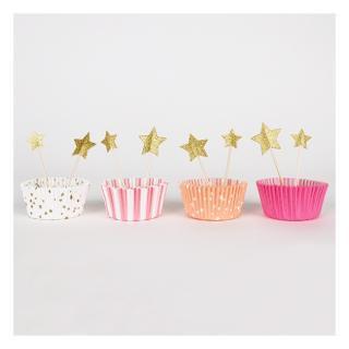 【Meri Meri メリメリ】 カップケーキ キット ピンク 【pink cupcake kit】(45-1204)