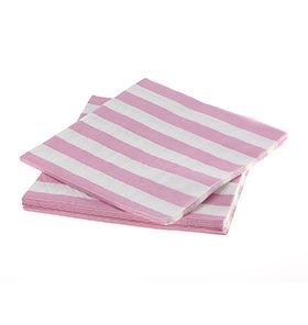 【SAMBELLINA サンベリーナ】 ペーパーナプキン ピンク ストライプ  20枚入 【メール便発送可】 (SMNP007)SALE