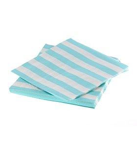 【SAMBELLINA サンベリーナ】 ペーパーナプキン ライトブルー ストライプ  20枚入 【メール便発送可】 (SMNP008)