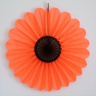 【ハロウィン】ビッグ ペーパー ファン ハロウィン 68cm 【オレンジ・ブラック】 ■SALE 25%OFF