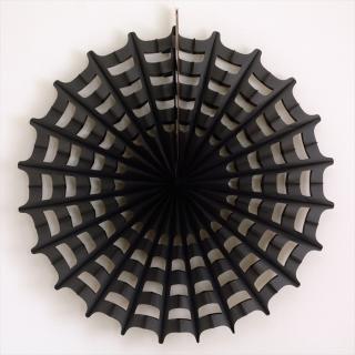 【ハロウィン】ビッグ ペーパー ファン スパイダーウェブ 68cm 【蜘蛛の巣・ブラック】HALLOWEEN